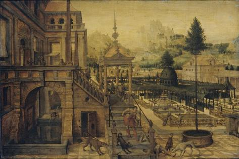 Palace Gardens with Poor Lazarus Art Print