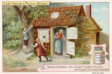 Hansel and Gretel: Hansel and Gretel Find the Gingerbread House Stampa giclée
