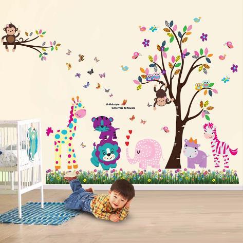 Happy Animal Adesivo de parede