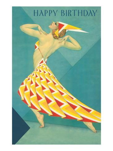 Happy Birthday Art Deco Dancer Photo At Allposters Com