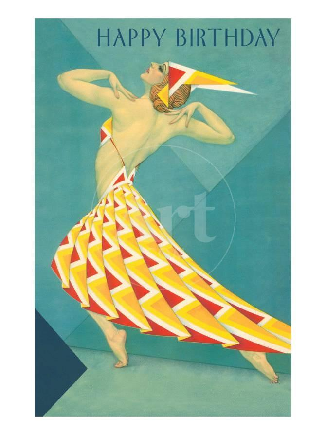 Happy Birthday, Art Deco Dancer Prints - AllPosters.ca