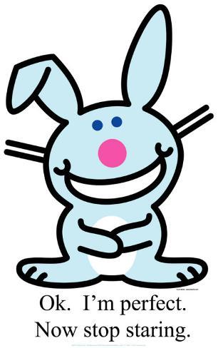 Happy Bunny - OK I'm Perfect Cardboard Cutouts