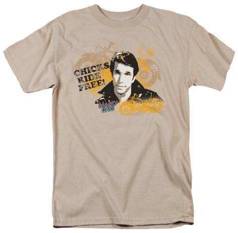 Happy Days - Chicks Ride Free T-Shirt