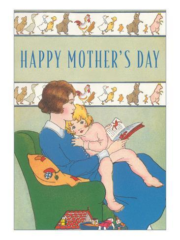 Happy Mother's Day, Reading to Child Art Print