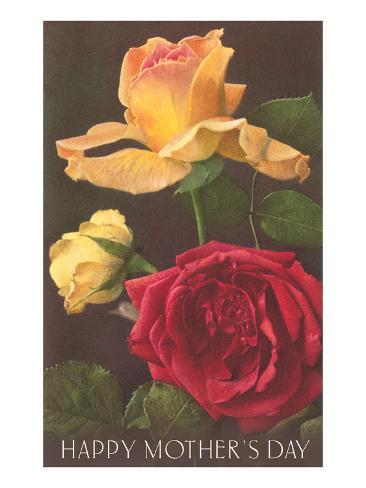 Happy Mothers Day, Roses Stampa artistica