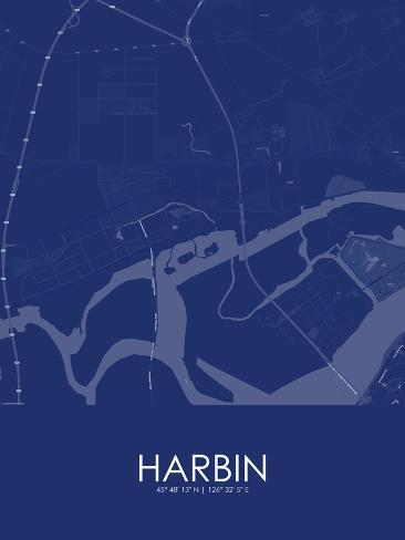 Harbin china blue map posters at allposters harbin china blue map gumiabroncs Image collections