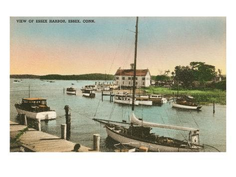 Harbor, Essex, Connecticut Art Print