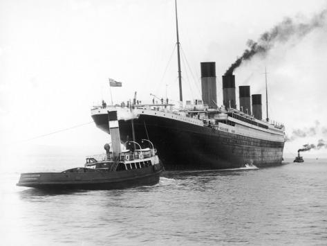 The Titanic Leaving Belfast Ireland for Southampton England for Its Maiden Voyage New York Usa Photographic Print