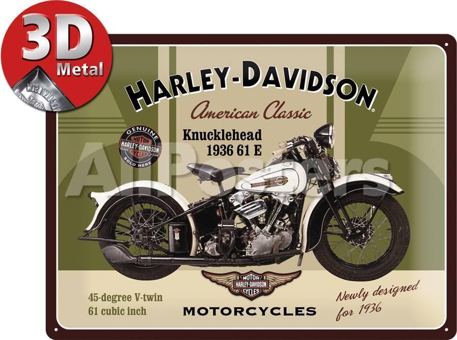 Harley-Davidson Knucklehead Carteles metálicos en AllPosters.es