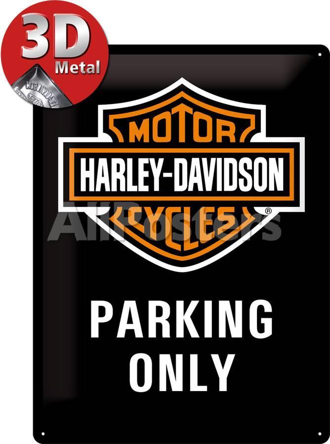 Harley-Davidson Parking Only Carteles metálicos en AllPosters.es