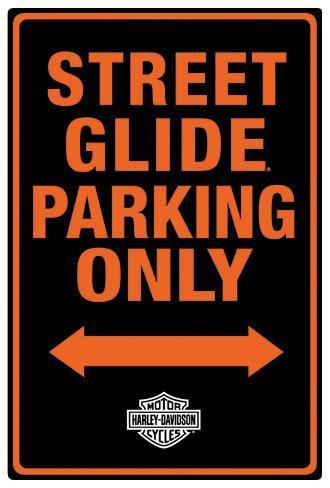 harley-davidson street glide parking tin sign at allposters