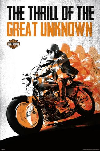 Harley Davidson - The Thrill of the Great Unknown Poster