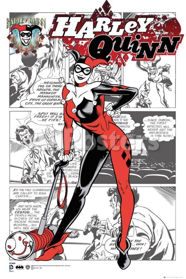 Harley Quinn- Comic Panels Pósters en AllPosters.es