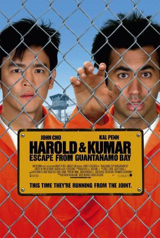 Harold and Kumar Escape From Guantanamo Bay double- sided Movie Poster Double-sided poster