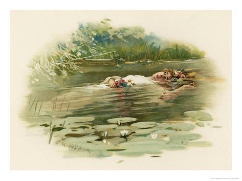 Hamlet, Ophelia Drowns Giclee Print