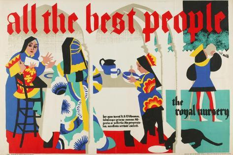 All the Best People - the Royal Nursery Giclee Print