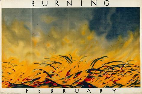 February - Burning Giclee Print