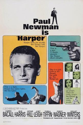 Harper, Paul Newman, Lauren Bacall, Janet Leigh, 1966 Lámina