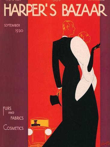 Harper's Bazaar, September 1930 Art Print