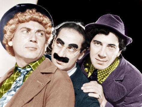 Harpo Marx, Groucho Marx, Chico Marx, MGM portrait, ca. 1940 Photo