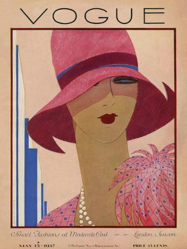 Vogue Cover - May 1927 Premium Giclee Print