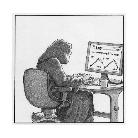 Death orders online - Cartoon Premium Giclee Print