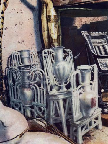 Alabaster Vases Tutankhamuns Tomb Egypt 1933 1934 Giclee Print