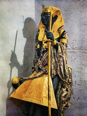 Wooden Statue of Tutankhamun, Egypt, 1933-1934 Giclee Print