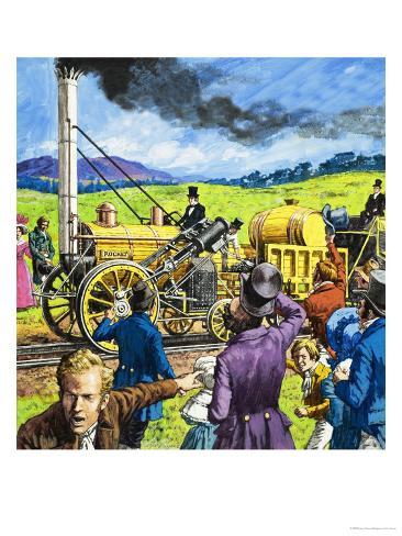 Stephenson's Rocket Giclee Print