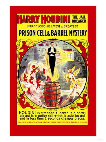 Harry Houdini: The Jail Breaker Art Print