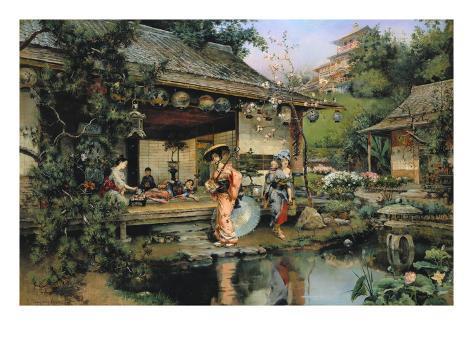 The Japanese Tea House Giclee Print