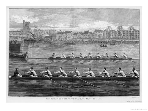 The Boat Race, Ready to Start Giclee Print