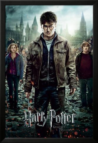 Harry Potter 7-Part 2 One Sheet Póster enmarcado con plástico protector