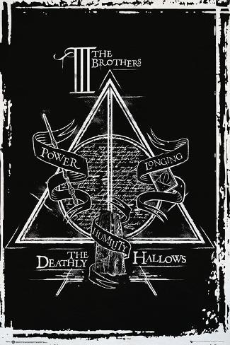 Harry Potter- Deathly Hallows Diagram Poster