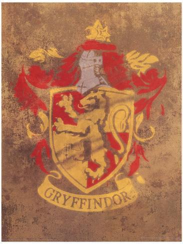 Harry Potter (Gryffindor Crest) Movie Poster Masterprint