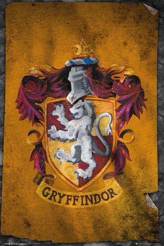 Harry Potter Gryffindor Flag Póster