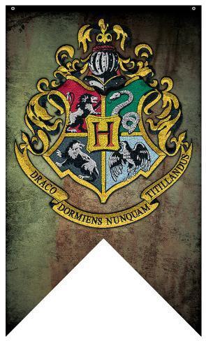 Harry Potter- Hogwarts Crest Banner Fabric Poster