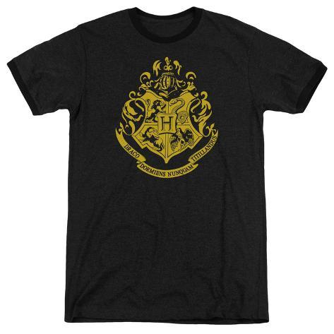 Harry Potter- Hogwarts Crest Ringer T-Shirt