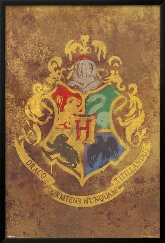 Harry Potter - Hogwarts Crest Lamina Framed Poster