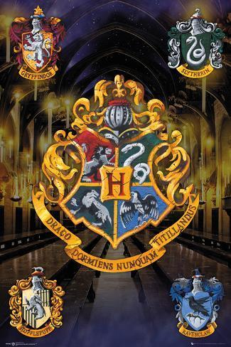 Harry Potter- Hogwarts Crests Poster
