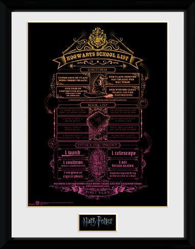 Harry Potter - Hogwarts List Collector Print