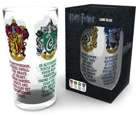 Harry Potter - House Crests 500 ml Glass Novelty