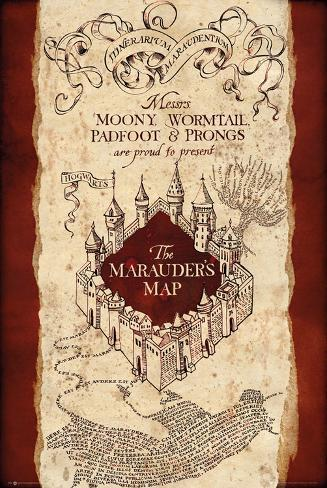 Marauders Map Harry Potter Harry Potter  Marauder's Map Posters at AllPosters.com Marauders Map Harry Potter