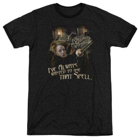 Harry Potter- Mcgonagall Piertotum Locomotor Ringer T-Shirt