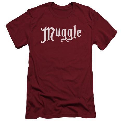 Harry Potter- Muggle Badge Slim Fit T-Shirt