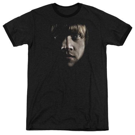 Harry Potter- Ron Dark Profile Ringer T-Shirt