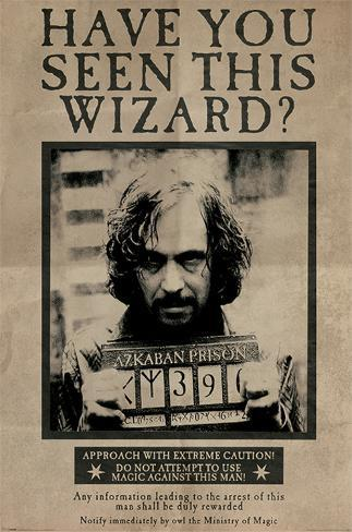 Harry Potter- Sirius Black Wanted Poster Póster