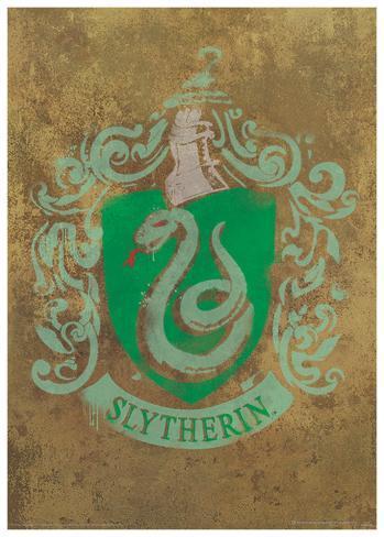 Harry Potter (Slytherin Crest) Movie Poster Masterprint