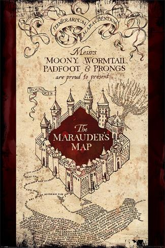 Harry Potter- The Marauder's Map Póster