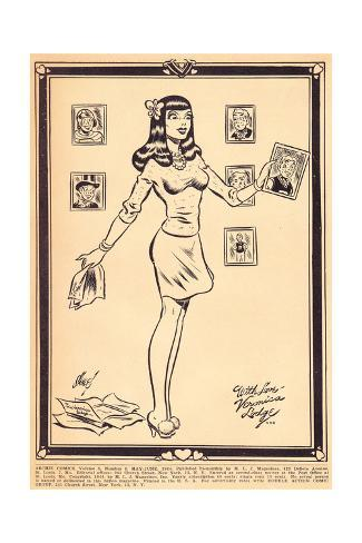 Archie Comics Retro: Archie Comic Panel With Love Veronica Lodge (Aged) Poster
